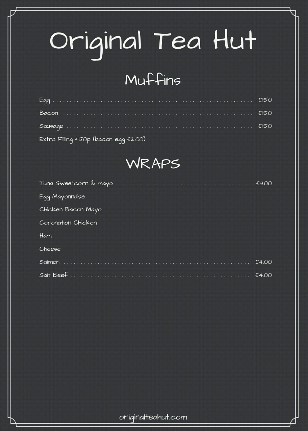 wraps and muffins